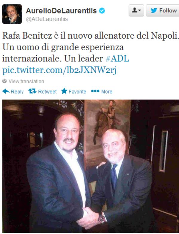Benitez til Napoli