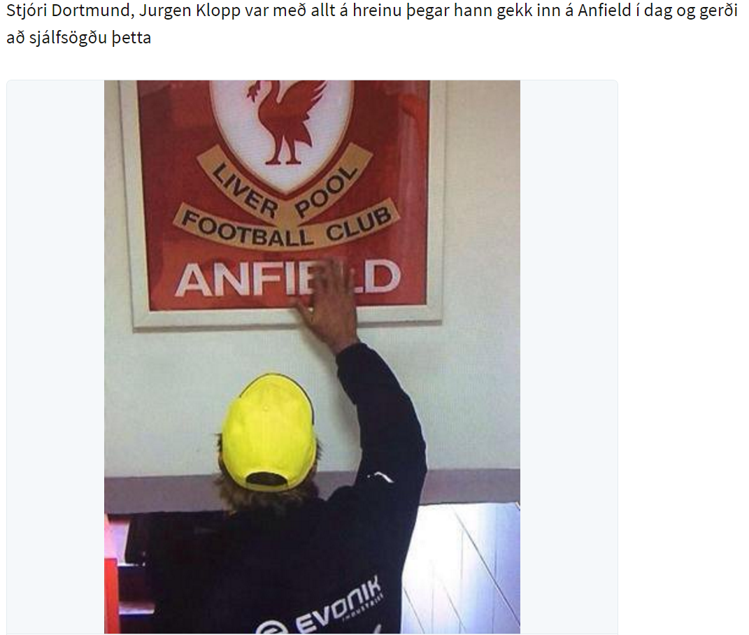Klopp - anfield sign 1